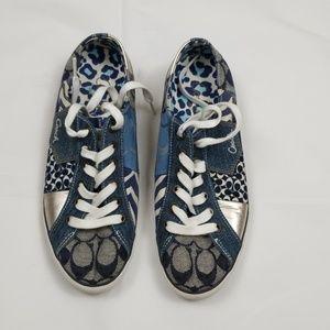Coach Tonya patchwork sneakers size 7.5